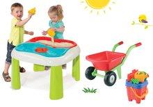 Detský záhradný nábytok sety - Set stôl Voda&Piesok 2v1 Smoby a fúrik s vedro setom od 18 mes_15