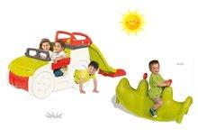 Set preliezačka pre deti Adventure Car Smoby so šmykľavkou dlhou 150 cm a hojdačka Tuleň s vodotryskom od 2 rokov
