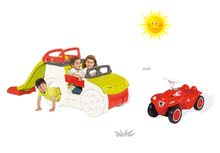 Preliezačky sety - Set preliezačka Adventure Car Smoby so šmykľavkou dlhou 150 cm a odrážadlo New Bobby s klaksónom od 24 mes_26