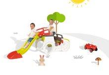 Preliezačky sety - Set preliezačka Adventure Car Smoby so šmykľavkou dlhou 150 cm a odrážadlo New Bobby s klaksónom od 24 mes_28