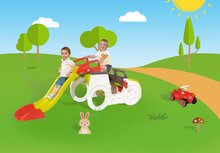 Preliezačky sety - Set preliezačka Adventure Car Smoby so šmykľavkou dlhou 150 cm a odrážadlo New Bobby s klaksónom od 24 mes_27