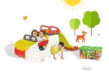 Preliezačky sety - Set preliezačka Adventure Car Smoby so šmykľavkou dlhou 150 cm a stavebnica Abrick 275 ks od 18 mes_16