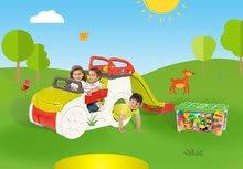 Preliezačky sety - Set preliezačka Adventure Car Smoby so šmykľavkou dlhou 150 cm a stavebnica Abrick 275 ks od 18 mes_15