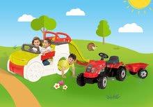 Preliezačky sety - Set preliezačka Adventure Car Smoby so šmykľavkou dlhou 150 cm a traktor Farmer XL s prívesom od 24 mes_22