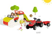 Preliezačky sety - Set preliezačka Adventure Car Smoby so šmykľavkou dlhou 150 cm a traktor Farmer XL s prívesom od 24 mes_21