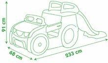 Preliezačky pre deti - Preliezačka Adventure Car Smoby s pieskoviskom a šmykľavkou dlhou 150 cm od 24 mes_9