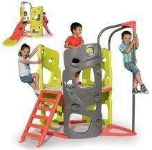 Lezecké centrum pre deti Multi-activity Tower Smoby so šmykľavkou a 170 cm tyčou na šplhanie 240*174*170 cm (nosnosť 100kg)