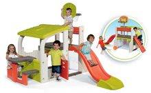 Hracie centrá - Set hracie centrum Fun Center Smoby so šmykľavkou dlhou 150 cm a domček Nature so zasúvacou okenicou od 24 mes_9