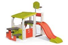 Hracie centrá - Set hracie centrum Fun Center Smoby so šmykľavkou dlhou 150 cm a domček Nature so zasúvacou okenicou od 24 mes_14