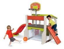 Hracie centrá - Set hracie centrum Fun Center Smoby so šmykľavkou dlhou 150 cm a domček Nature so zasúvacou okenicou od 24 mes_0