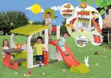 Hracie centrá - Set hracie centrum Fun Center Smoby so šmykľavkou dlhou 150 cm a domček Nature so zasúvacou okenicou od 24 mes_16