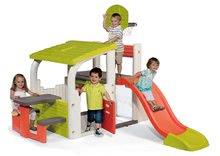 Centru de joacă Multisport Fun Center Smoby cu tobogan de 150 cm, coș de baschet, fotbal şi masă de picnic de la 2 ani