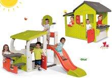 Komplet igralo Fun Center Smoby s toboganom in hišica Maison Neo Floralie od 24 mes