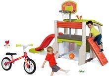 Hracie centrá - Set hracie centrum Fun Center Smoby so šmykľavkou dlhou 150 cm a balančné odrážadlo od 24 mes_27