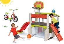 Hracie centrá - Set hracie centrum Fun Center Smoby so šmykľavkou dlhou 150 cm a balančné odrážadlo od 24 mes_26