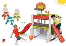 Hracie centrá - Set hracie centrum Fun Center Smoby so šmykľavkou dlhou 150 cm a Piknik stolík s dvoma stoličkami KidChair Red od 24 mes_8