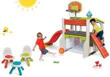 Hracie centrá - Set hracie centrum Fun Center Smoby so šmykľavkou dlhou 150 cm a Piknik stolík s dvoma stoličkami KidChair Red od 24 mes_42
