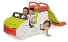 Căţărătoare maşină Adventure Car Smoby cu sunet, nisipar şi tobogan de 150 cm cu protecție UV de la 18 luni