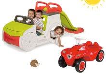Preliezačky sety - Set preliezačka Adventure Car Smoby so šmykľavkou dlhou 150 cm a odrážadlo New Bobby s klaksónom od 24 mes_29