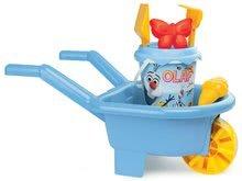 Kolečko pro děti s kbelík setem Olaf Smoby 6 dílů od 18 měsíců světle modrý