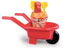 Kolečko s kbelík setem Auta 3 Smoby 6 dílů od 18 měsíců červený