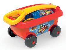Homokozó talicskák - Húzható kiskocsi Mickey Smoby vödör szettel homokozóba (vödör 18 cm) 18 hó-tól_0