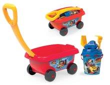 Homokozó talicskák - Húzható kiskocsi Mickey Smoby vödör szettel homokozóba (vödör 18 cm) 18 hó-tól_1