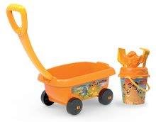 Smoby detský vozík na ťahanie Levia hliadka s vedro setom 867005