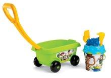 Fúriky do piesku - Detský vozík na ťahanie Toy Story Smoby s vedro setom do piesku (vedro výška 17 cm) od 18 mesiacov zelený_0