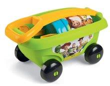 Fúriky do piesku - Detský vozík na ťahanie Toy Story Smoby s vedro setom do piesku (vedro výška 17 cm) od 18 mesiacov zelený_1