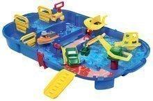 Pistă de apă AquaPlay LockBox în valiză cu hipopotamul Wilma şi cu baraj cu pompă de apă