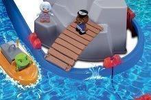 Vodene staze za djecu - Vodena staza Mountain Lake AquaPlay s gorskom spiljom, toboganom i pregradom s dvjema figuricama_3