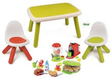 Set stôl pre deti KidTable Smoby zelený so štyrmi stoličkami s UV filtrom SM880401-1
