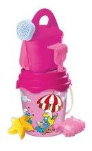Găleți pentru nisip - Set de nisip în găleată Mondo roz, 7 buc, 19 cm_2