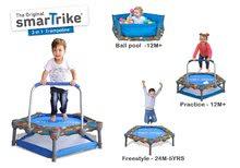 Trampolína pre deti 3-in-1 Jump SmarTrike 90 cm s loptičkami od 12 mesiacov ST9101100