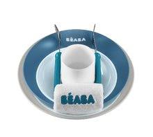 Jedálenská súprava pre deti Beaba Ellipse v darčekovom balení modrá