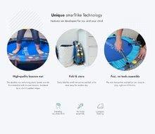 Trampolíny - Trampolína Activity Center 2v1 smarTrike skladacia okrúhla s 92 cm obvodom s rúčkou na držanie od 12 mes_17