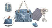 Přebalovací taška ke kočárku Beaba Geneva II kostkovaná modrá