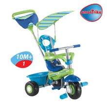 Trojkolky od 10 mesiacov - Trojkolka Plus Fresh smarTrike modro-zelená s pásikmi od 10 mes_1