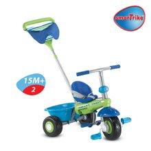 Trojkolky od 10 mesiacov - Trojkolka Plus Fresh smarTrike modro-zelená s pásikmi od 10 mes_2