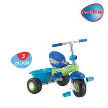 Trojkolky od 10 mesiacov - Trojkolka Plus Fresh smarTrike modro-zelená s pásikmi od 10 mes_3