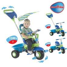 Trojkolky od 10 mesiacov - Trojkolka Plus Fresh smarTrike modro-zelená s pásikmi od 10 mes_4