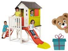 Gyerek házikó pilléreken Pilings House Smoby 1,5 m csúszdával és létrával 2 éves kortól + ajándékutalvány 8000 Ft