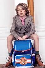 Školske torbe i ruksaci - Školski ruksak veliki Ergomax Lion Head Jeune Premier ergonomski luksuzni dizajn_5