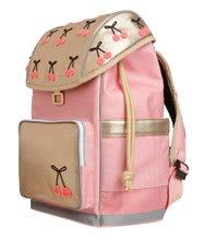Školske torbe i ruksaci - Školski ruksak veliki Ergomaxx Cherry Pompon Jeune Premier ergonomski luksuzni dizajn 39*26 cm_3