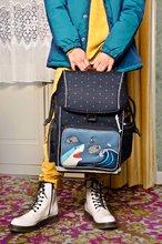 Školske torbe i ruksaci - Školský batoh veľký Ergomaxx Sharkie Jeune Premier ergonomický luxusné prevedenie 39*26 cm JPERX21174_6