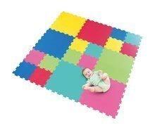 Pěnové puzzle podložka Lee Chyun pro nejmenší 6 +12 dílů barevné