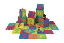 Puzzle din burete în formă pătrată pentru copii ABC Alfabet Lee 26 bucăţi
