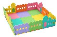Podlahové puzzle pro miminka - Pěnový koberec hrad Lee Chyun s plotem v tašce pro nejmenšh 25 ks_0