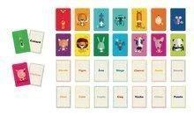 Detská spoločenská hra Memo des Mots Janod 32 kariet v angličtine od 5-10 rokov